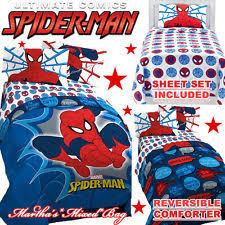 Spiderman Comforter Set Full Spiderman Superheroes Kids U0026 Teens Bedding Sets Ebay