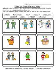 community helper worksheet matching community helpers
