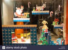 Christmas Window Decorations by Christmas Window Decorations In The Bhv Pet Store Paris Stock
