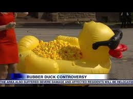 hundreds of rubber duckies delivered to s park