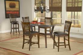 rustic candelier over 5 pieces wooden dining set with square table