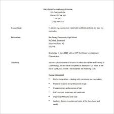 cosmetologist resume template beautician cosmetologist resume