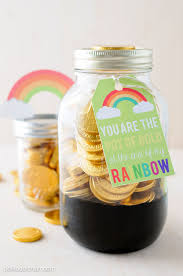 pot of gold a st patrick u0027s day mason jar gift idea