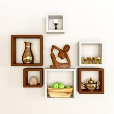 artesia decorative wooden shelves 6 pcs set u2013 artesia shop