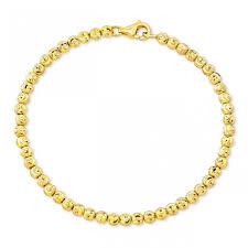 gold beads bracelet images 14k yellow gold diamond cut bead bracelet jpeg