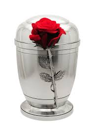 urn for ashes exclusive silver pewter with silk velvet funeral cremation