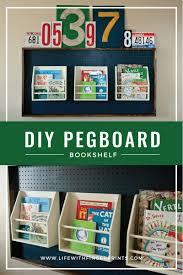diy pegboard bookshelf life with fingerprints