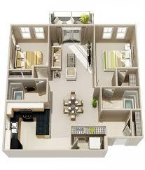 appartement avec une chambre 50 plans 3d d appartement avec 2 chambres plan gratuit newsindo co