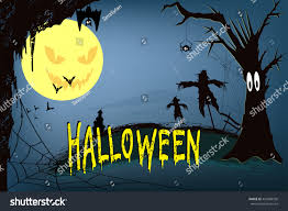 background halloween image halloween night background scary house crows stock illustration