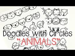 doodle with kawaii animal doodles doodles with circles