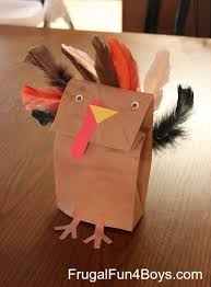 how to make a turkey out of a pine cone thanksgiving craft for kids paper bag turkey puppets