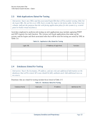 security assessment plan template