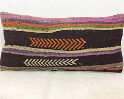 Lumbar Decorative Pillows Ethnic Pillows Etsy
