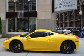 gold ferrari 458 italia 2011 ferrari 458 italia stock gc1822a for sale near chicago il