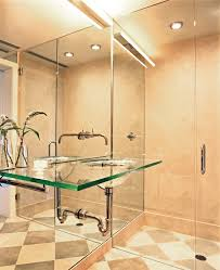 clear glass tile bathroom contemporary with toilet paper holders