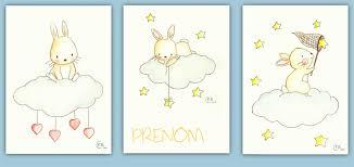 chambre lapin dessin pour chambre bebe dessins aquarelles lapin sur nuage avec