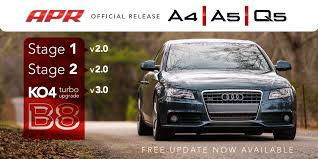 audi a4 2 0 turbo upgrade apr announces b8 2 0t stage i stage ii and k04 ecu upgrades