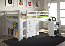 storage loft full bed with desk home desain 2018
