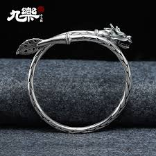 silver bracelet gift images Usd 151 00 nine s999 retro domineering leading couple silver jpg