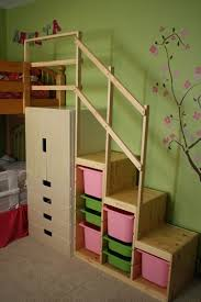 Make Cheap Loft Bed by Easy Full Height Bunk Bed Stairs Ikea Hackers Ikea Hacks
