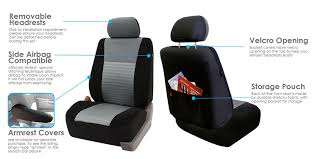 amazon com fh fb060 trendy elegance car seat covers airbag