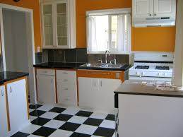 Kitchen Floor Ceramic Tile Design Ideas - flooring luxurious orange kitchen design ideas with orange paint