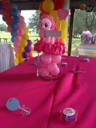 Centerpieces For Kids by Centerpieces Made With My Little Pony Plush Dolls From Build A