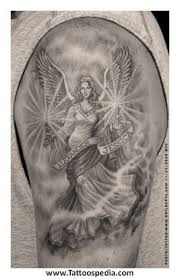 warrior angel tattoos arm tattoo grim reaper angel of death