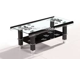 Black Table Ls Morden Oval Clear Black Tempered Glass Coffee Table Glass Side