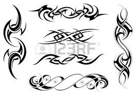 tribal circle shape isolated on white royalty free cliparts
