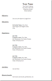 Blank Fill In Resume Templates Free Resume Print And Download Resume Template And Professional