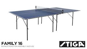 stiga advance table tennis table assembly family 16 assembly instructions youtube