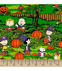 halloween cotton fabric peanuts spooky night joann