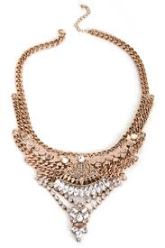 bib necklace images Gold boho gems bib necklace jpg