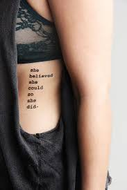 quote she believed tattoomagz