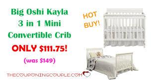 Mini Convertible Cribs by Big Oshi Kayla 3 In 1 Mini Convertible Crib Only 111 75