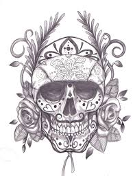 mexican gangsta and skull sleeve tattoo design photo 3