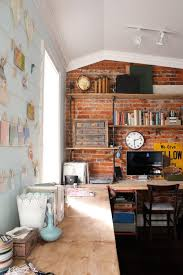 Awesome Home Interiors Home Interior Design Awesome Home Office Brick Wall Brick Wall