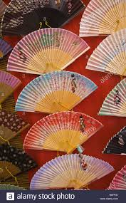 japanese fans for sale kyoto city japan street near kiyomizu temple painted japanese fans