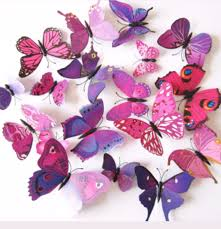 buy wall stickers decals online in sri lanka 3d butterfly 3d butterfly wall stickers 12 piece