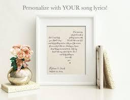 wedding anniversary gift for husband wedding gift song lyrics personalized wedding gift unique 2 year