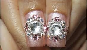 top 10 beautiful rhinestone nail art designs trending today