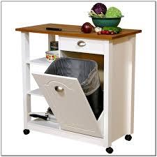 Kitchen Cart Ideas Butcher Block Kitchen Cart With Trash Bin Kitchen Set Home