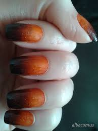 glitter orange and black ombre nails halloween nails my nails