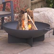 Steel Firepits Real Anson Steel Wood Burning Pit Reviews Wayfair
