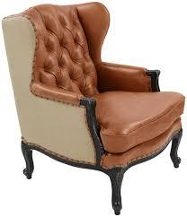 Leather Armchair Wingback Tufted Leather Armchair Safavieh Com