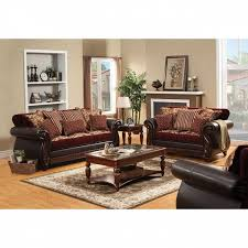 Burgundy Living Room Furniture by Sofa In Burgundy Sm6107 Group
