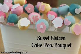 cake decorating sweet sixteen cake pop bouquet sweet c u0027s designs
