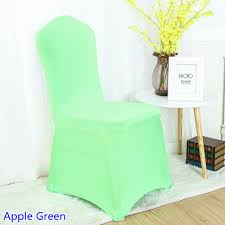 spandex chair covers wholesale suppliers aliexpress buy spandex chair cover apple green colour flat