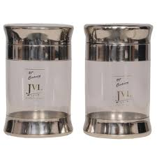 jvl set of 2 stainless steel containers steel containers